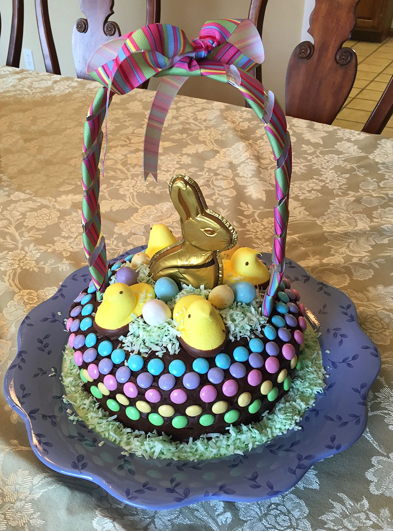 Easter basket cake craft picnic happy easter from craft picnic need a new idea for your easter brunch how about an easy easter basket cake negle Gallery